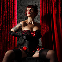 Shooting-Aktion Burlesque